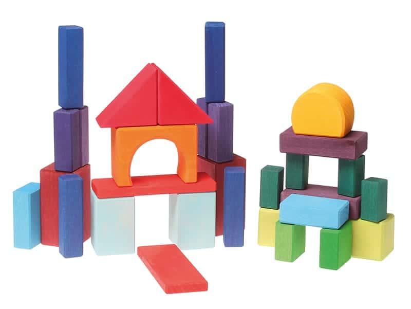 Byggeklodser 30 stk. - Flerfarvede