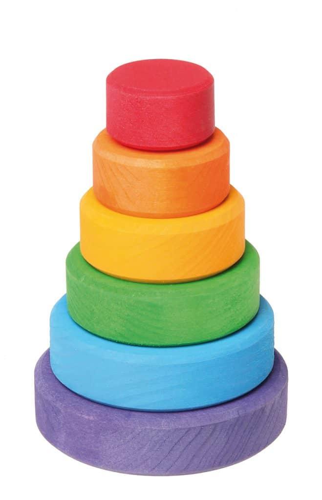 Stabletårn lille - regnbuefarver
