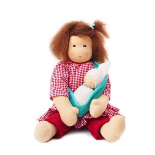 Mor med baby dukke