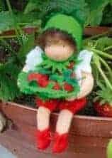 "Dukke ""vilde Jordbær"" De witte engel"