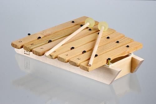 Træ xylophone med 7 toner