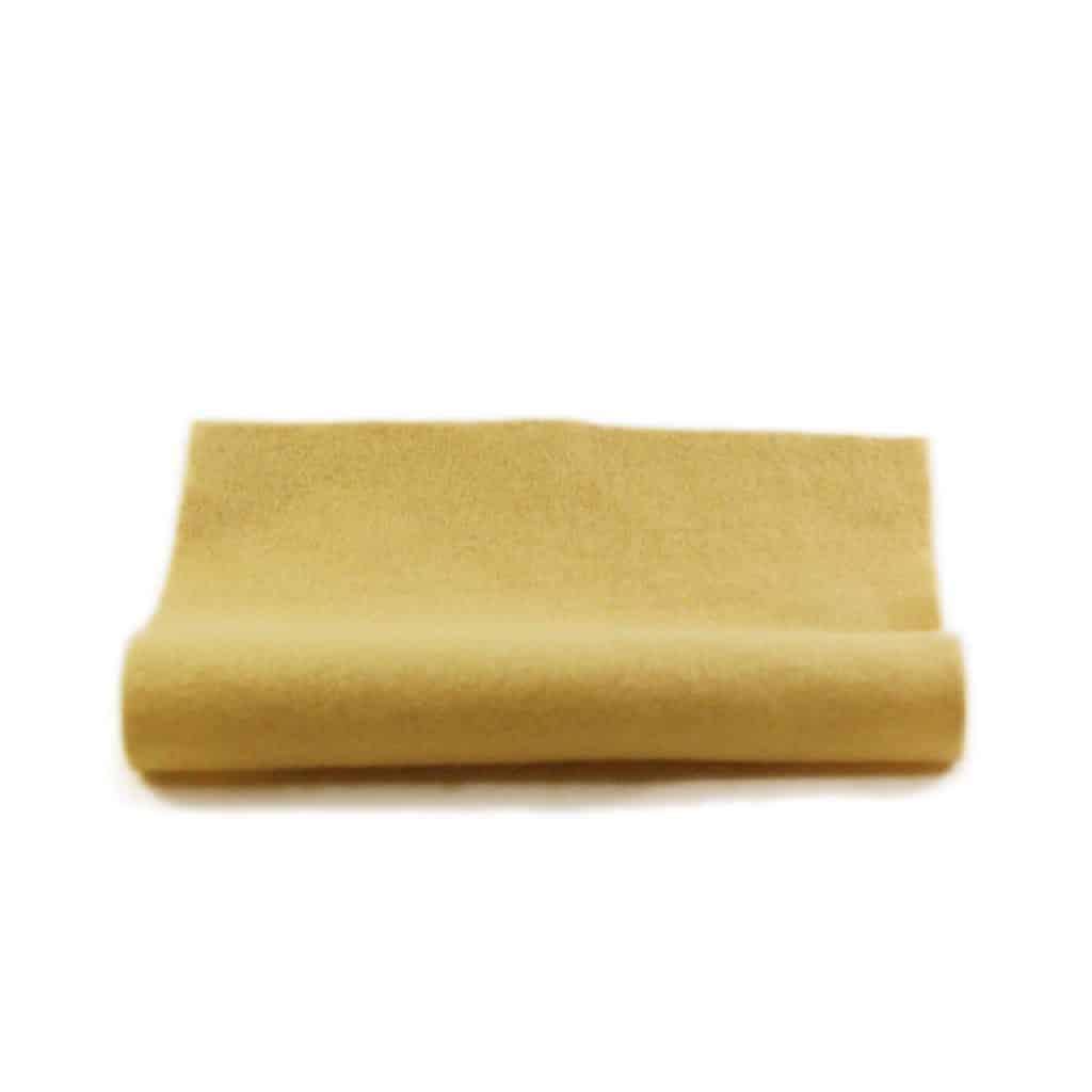 filt gul uld plantefarve økologisk filtstykke