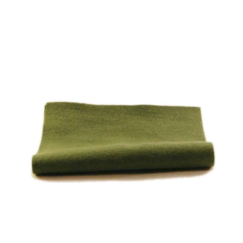 filt mørkegrøn uld plantefarve økologisk filtstykke