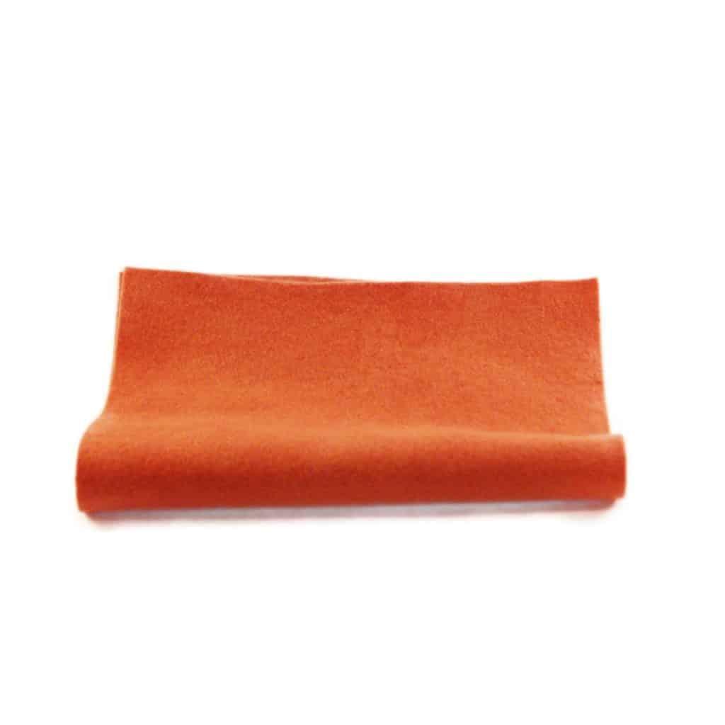 filt orange uld plantefarve økologisk filtstykke