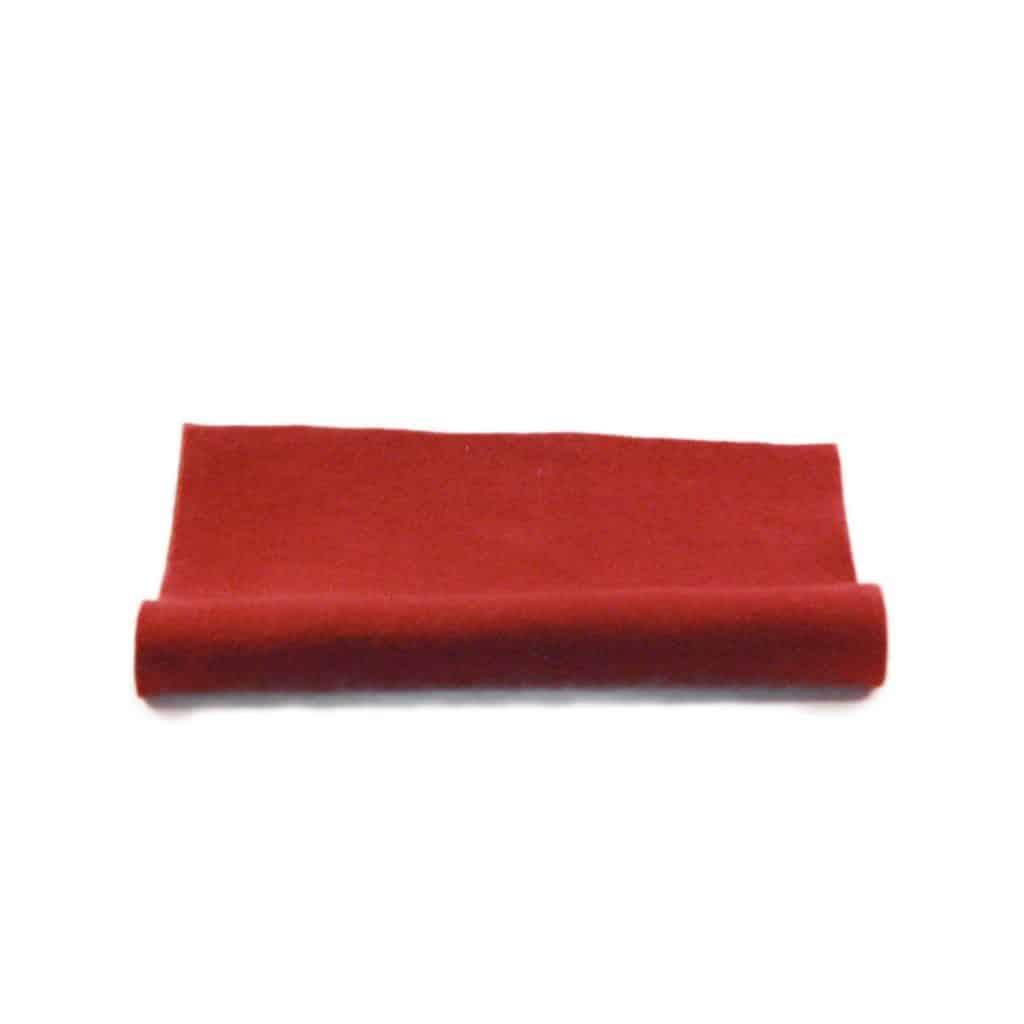 filt rød uld plantefarve økologisk filtstykke