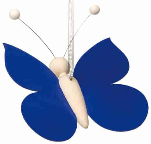 Sommerfugl på fjeder - Blå