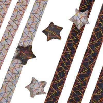 Lykkestjerner zigzag-print