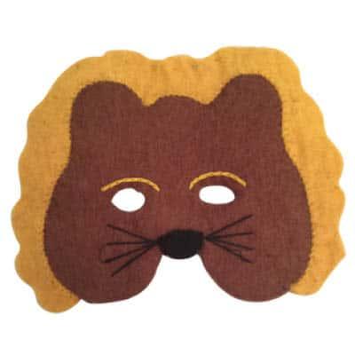 løvemaske i filt uld