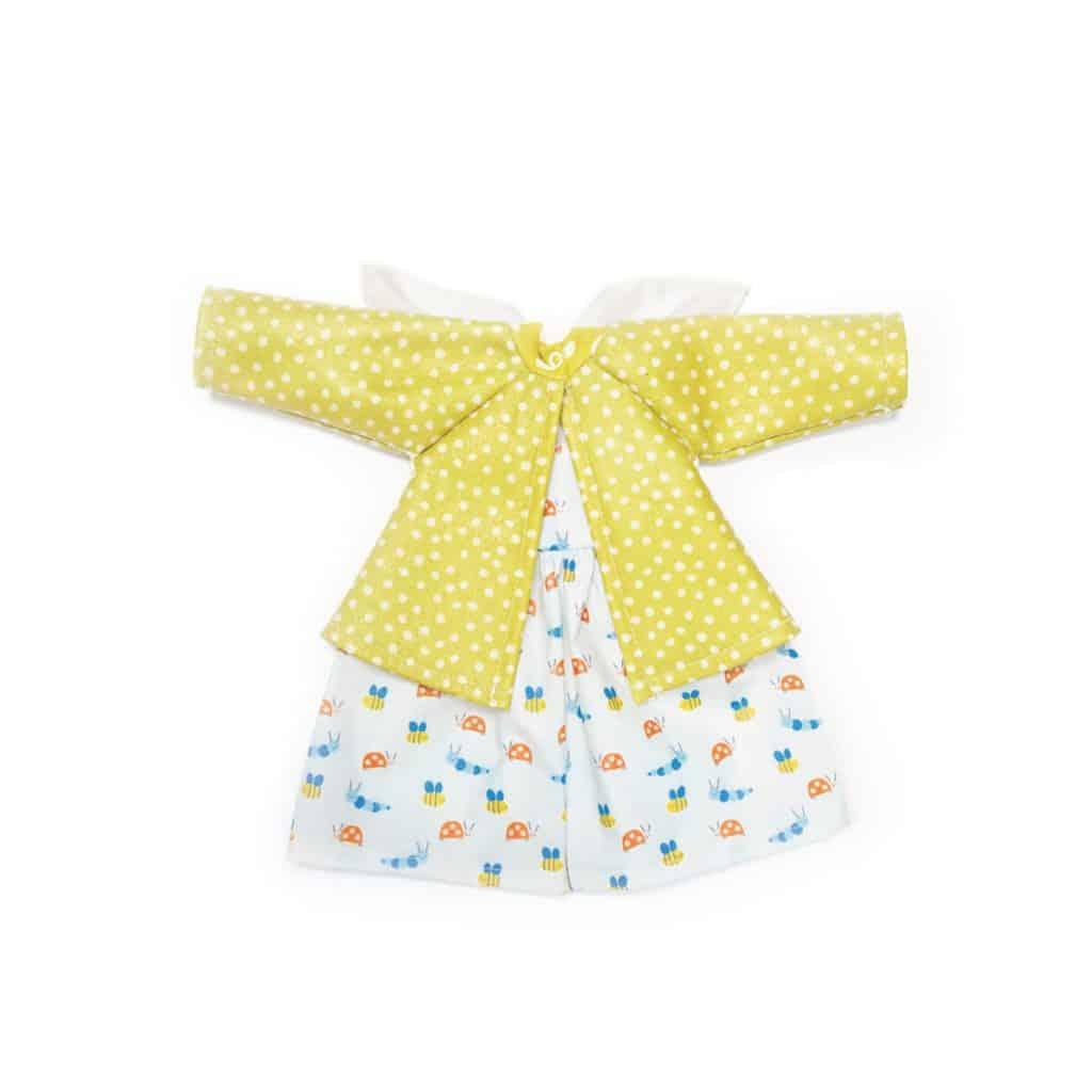 økologisk dukketøj nanchen gul