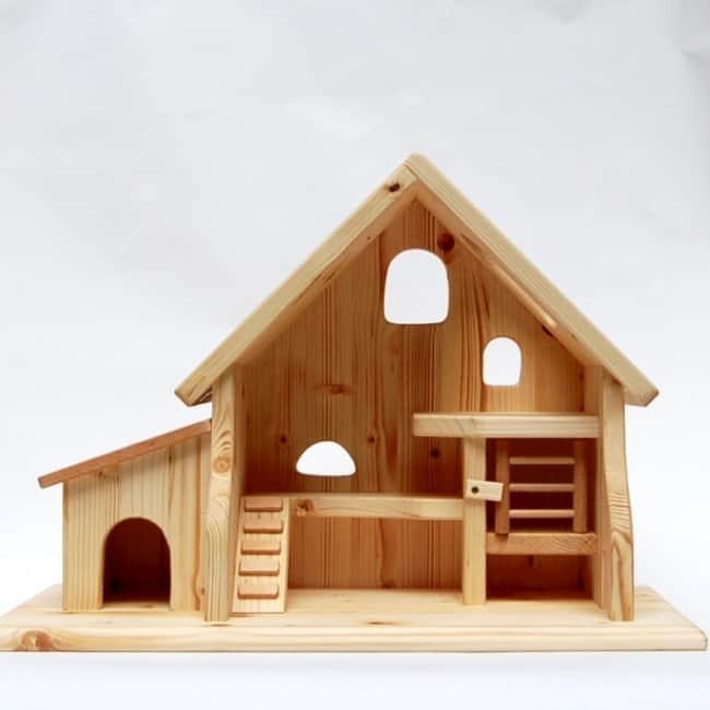 Bondegård med hundehus