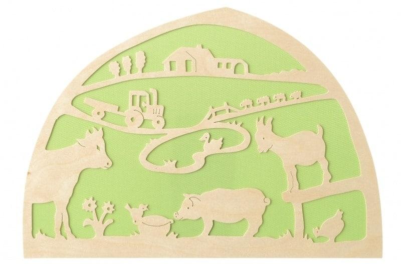 Silhuet - dyr på gården