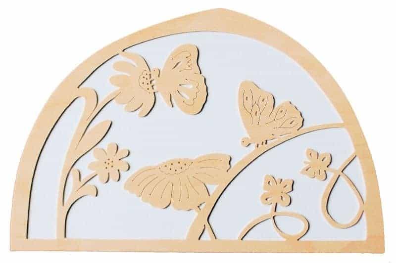 silhuet sommerfugl