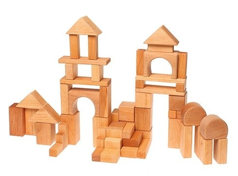 Byggeklodser 60 stk. naturfarvet