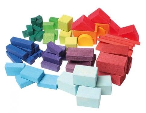 Byggeklodser 60 stk. i farver