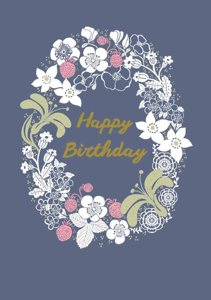 Happy Birthday - Blå