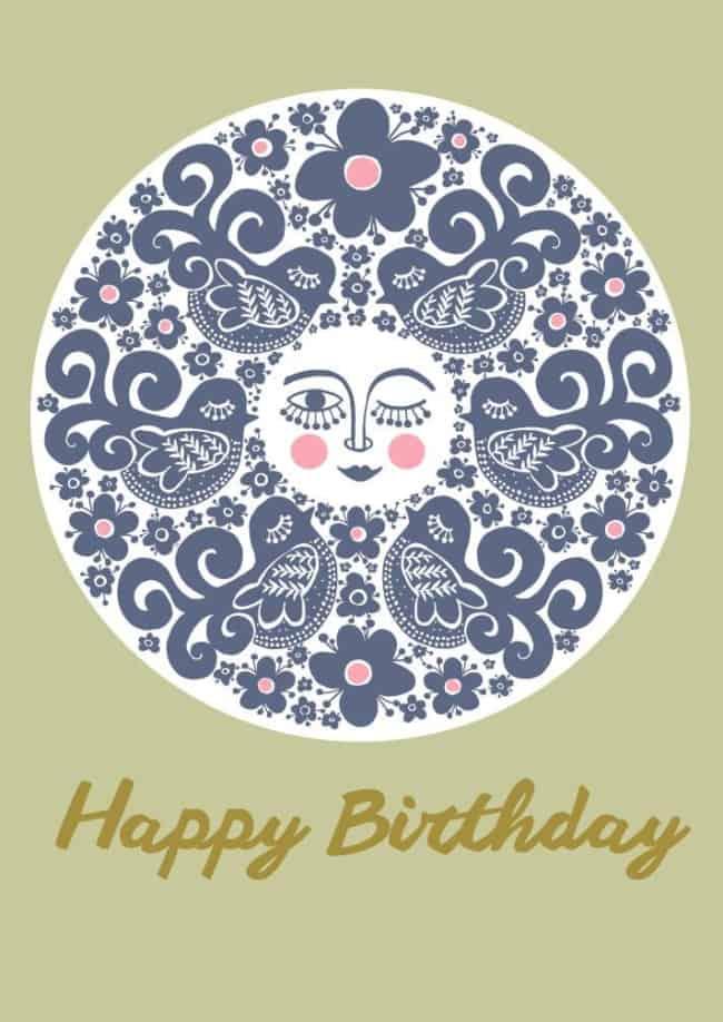 Happy Birthday - Lysegrøn