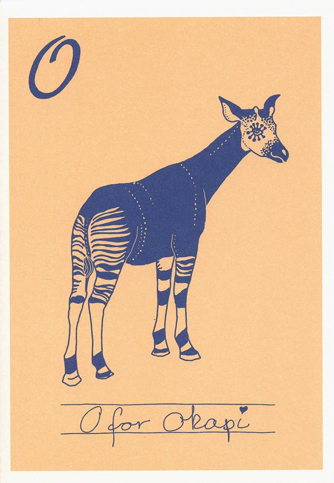 O for okapi