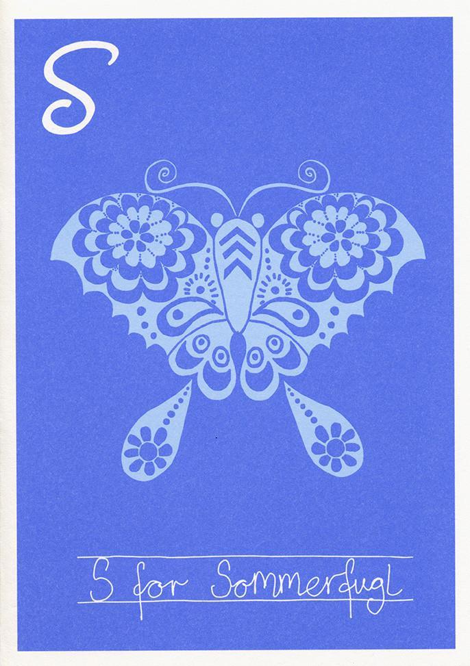 S for sommerfugl