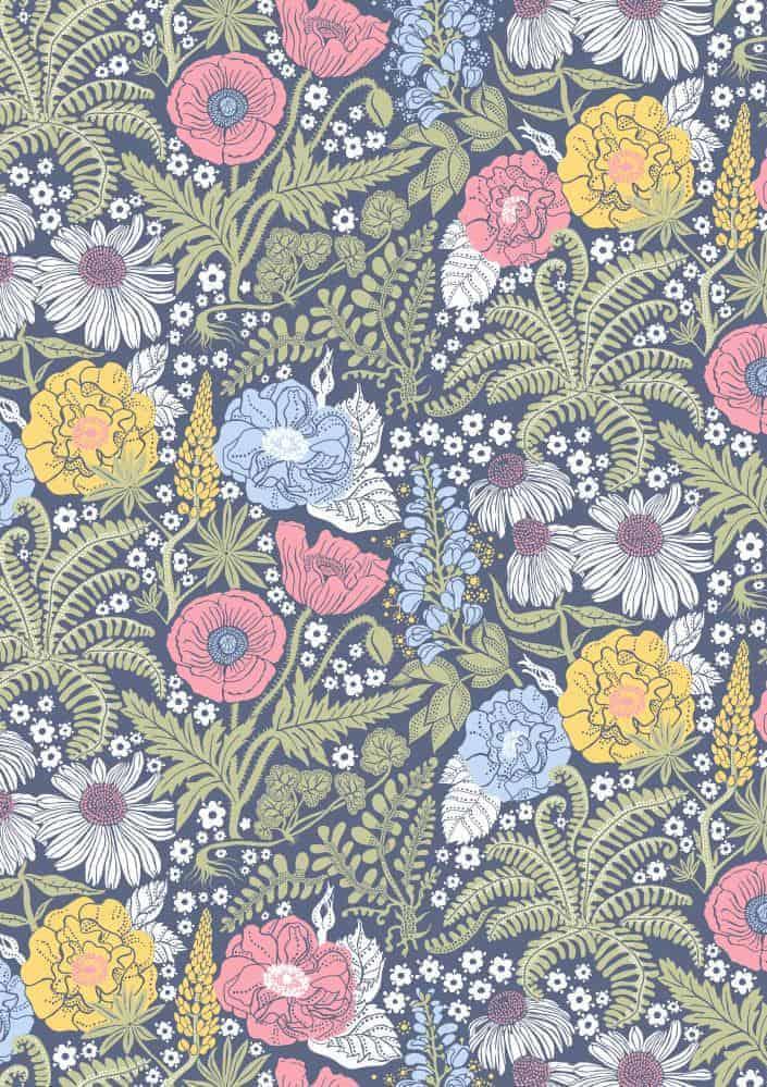 Blomster - Blå