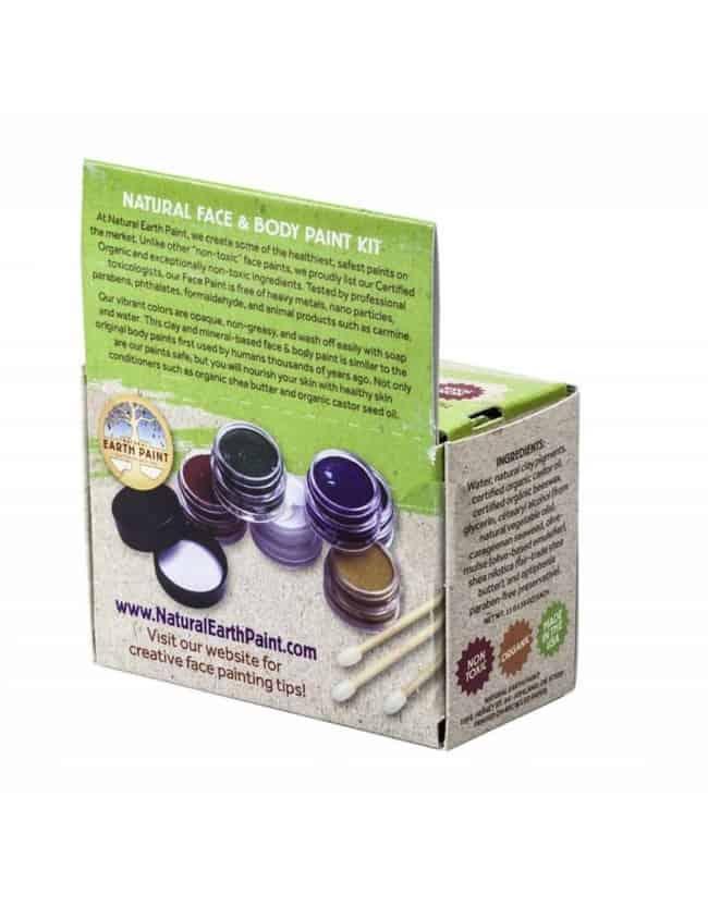 Ansigtsmaling - sæt med 6 farver