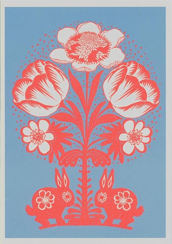 Forårs kanin - stort postkort