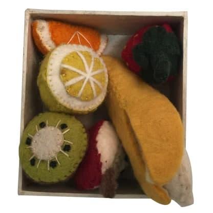 Frugt i filt håndlavet uldfilt