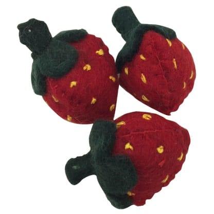 jordbær i filt