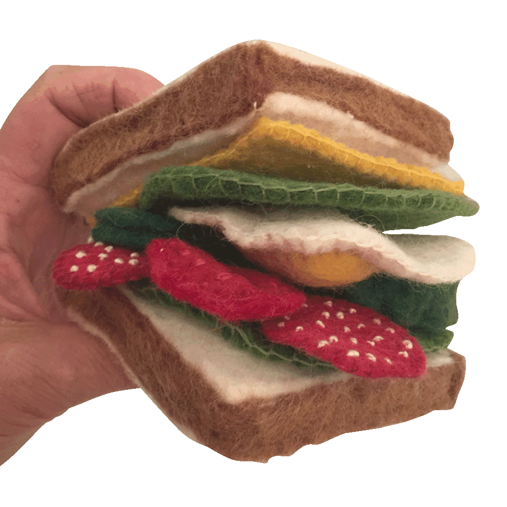 filt-legemad sandwich uldfilt