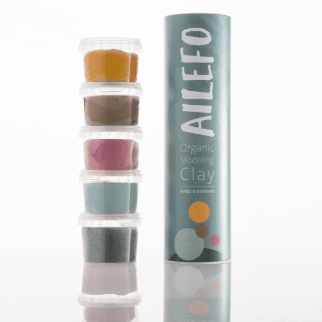 Ailefo økologisk modellervoks - 5 farver