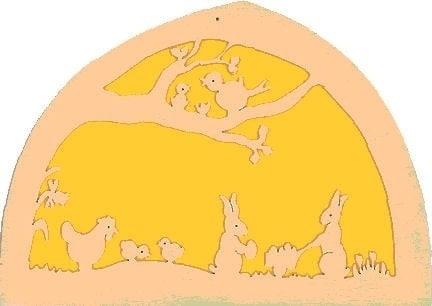 Silhuet - påskeharer