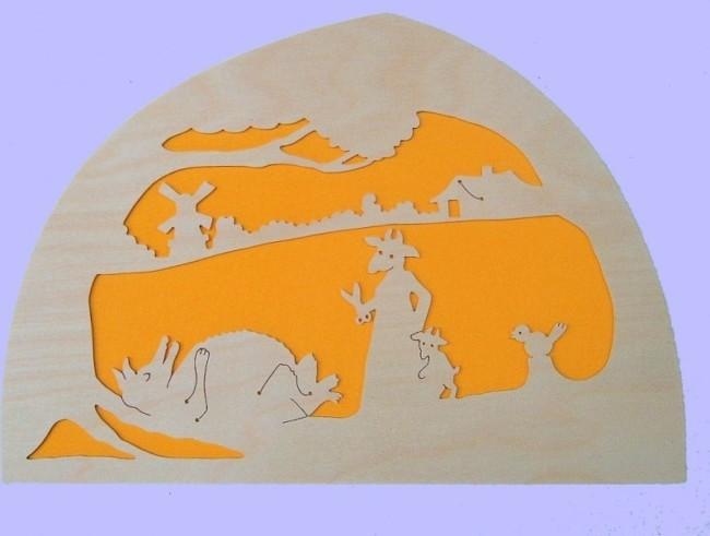 Silhuet - ulven og de syv gedekid