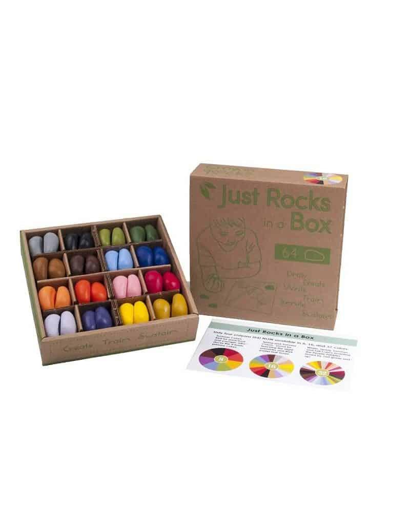 Soja farvekridt - 64 stk. i æske - 16 farver