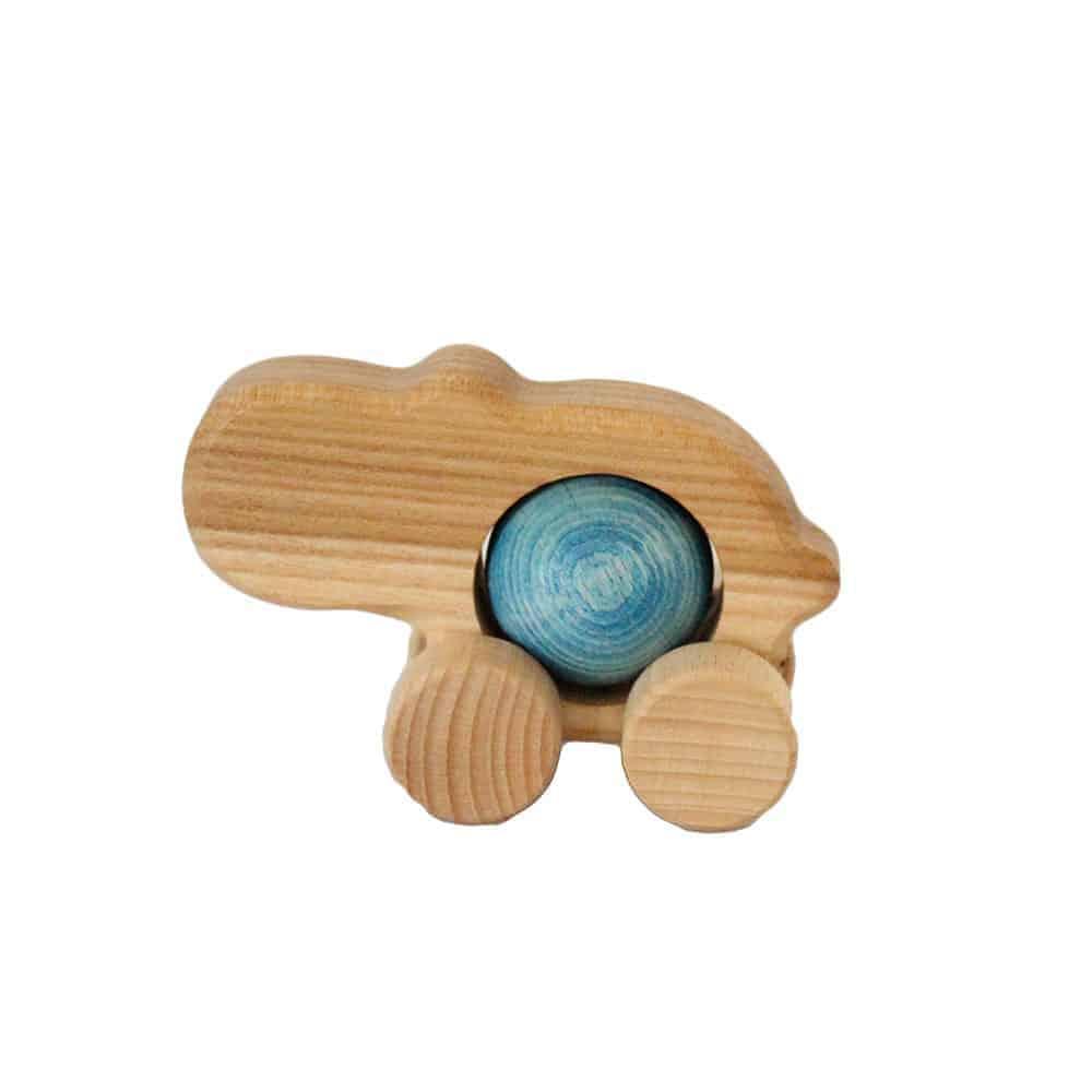 Flodhest med rullekugle - blå