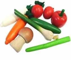 Sæt med 9 grøntsager i net