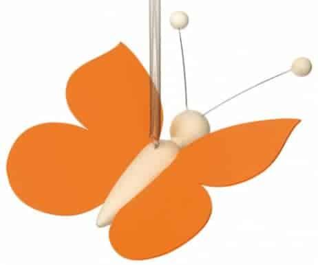 Sommerfugl på fjeder - Orange