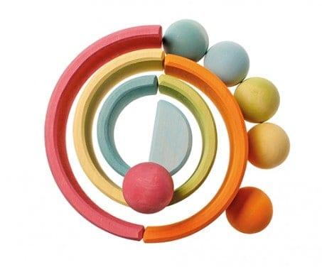 6 kugler i bakke - pastelfarvet