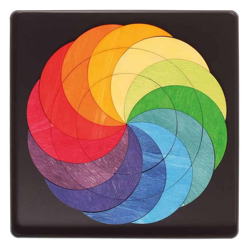 Magnetpuslespil - Regnbuehjul